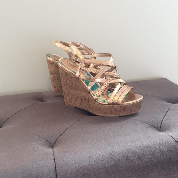 Rose Gold Madden Girl Wedge Sandals